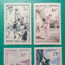 Sellos: FRANCIA 1956. DEPORTES. YVERT 1072/1075**.. Lote 169054714