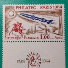 Sellos: FRANCIA 1964. PHILATEC PARÍS. YVERT 1422**.. Lote 169129572