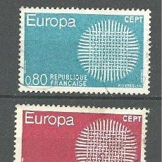 Sellos: YT 1637-38 FRANCIA 1970. Lote 179315656
