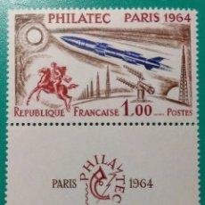 Sellos: FRANCIA 1964. PHILATEC PARÍS. YVERT 1422**.. Lote 170461674