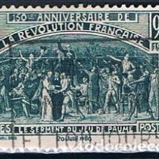 Sellos: FRANCIA 1939 SELLO YVES 444 SERIE USADO. Lote 171149377