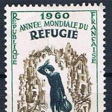 Sellos: FRANCIA 1960 SELLO YVES 1253 NUEVO MH* SERIE. Lote 171152722
