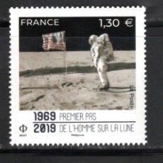 Sellos: FRANCE 2019 - 50EME ANNIVERSAIRE PREMIER PAS DE L'HOMME SUR LA LUNE MNH. Lote 172028648