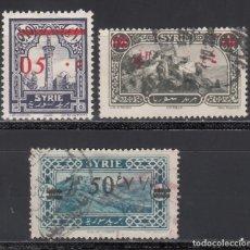 Selos: COLONIAS FRANCESAS, SIRIA, 1928 YVERT Nº 188, 190 , 191, . Lote 172254793