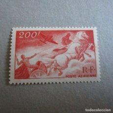 Sellos: FRANCIA 1946-1947 YVERT Nº 19*, AEREO, MITOLOGIA. FIJASELLOS LEVE SEÑAL. Lote 174571185