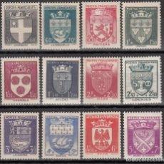 Selos: FRANCIA, 1942 YVERT Nº 553 / 564 /**/, SIN FIJASELLOS. . Lote 175638195