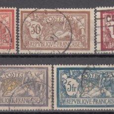 Sellos: FRANCIA, 1900 YVERT Nº 119 / 123 . Lote 175723433