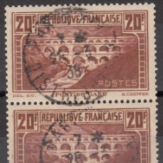 Sellos: FRANCIA, 1929-1931 YVERT Nº 262F, *IIA+IIB* . Lote 175724815