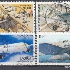 Selos: FRANCIA, AÉREO 1997-2000 YVERT Nº 61, 62, 63, 64, . Lote 175727149