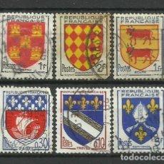 Francobolli: FRANCIA - LOTE SELLOS DE ESCUDOS. Lote 176080357