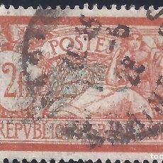 Sellos: FRANCIA. YVERT 145. TIPO MERSON 1907. 2 FR. NARANJA Y VERDE.. Lote 176213113