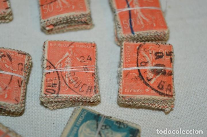 Sellos: Oportunidad sobre 1000 Sellos antiguos de FRANCIA - Pastillas de 100 - ¡MIRA! - Foto 4 - 176823589