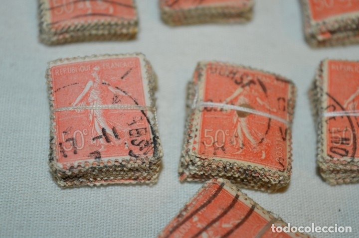 Sellos: Oportunidad sobre 1000 Sellos antiguos de FRANCIA - Pastillas de 100 - ¡MIRA! - Foto 5 - 176823589
