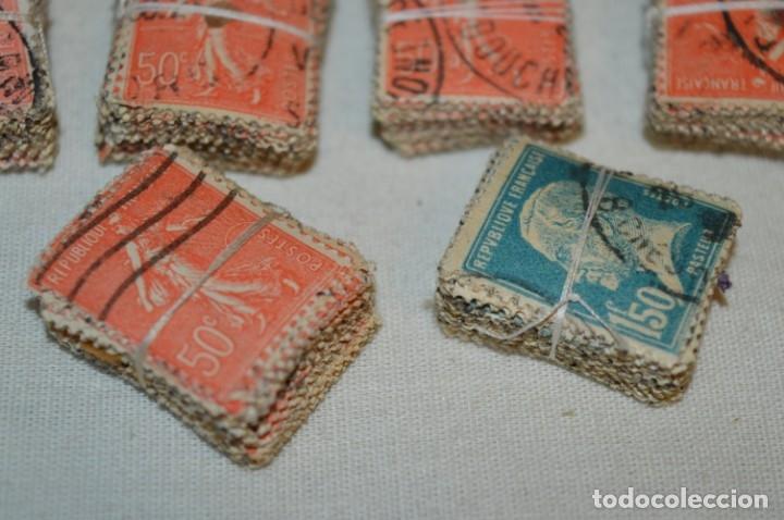 Sellos: Oportunidad sobre 1000 Sellos antiguos de FRANCIA - Pastillas de 100 - ¡MIRA! - Foto 6 - 176823589