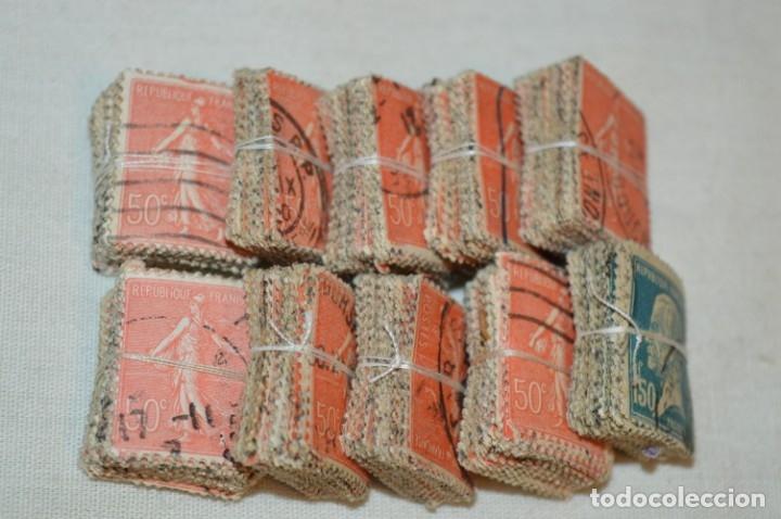 Sellos: Oportunidad sobre 1000 Sellos antiguos de FRANCIA - Pastillas de 100 - ¡MIRA! - Foto 7 - 176823589