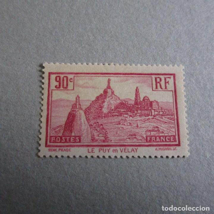 FRANCIA 1933, YVERT Nº 290*, LE PUY EN VELAY. FIJASELLOS LEVE SEÑAL (Sellos - Extranjero - Europa - Francia)