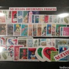 Sellos: 50 SELLOS NUEVOS DIFERENTES DE FRANCIA. Lote 177707233