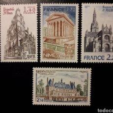 Sellos: FRANCIA. YVERT 2132/5 SERIE COMPLETA NUEVA SIN CHARNELA. TURISMO. ARQUITECTURA.. Lote 178744935