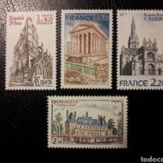 Sellos: FRANCIA. YVERT 2132/5 SERIE COMPLETA NUEVA SIN CHARNELA. TURISMO. ARQUITECTURA.. Lote 178744953