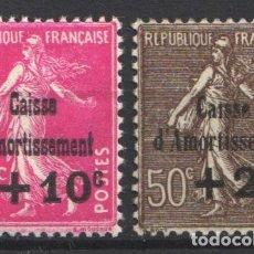 Sellos: FRANCIA, 1930 YVERT Nº 266, 267 /*/ CAJAS DE AMORTIZACIÓN. . Lote 178983756