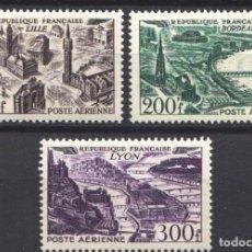 Sellos: FRANCIA, AÉREO 1949 YVERT Nº 24, 25, 26, /*/ . Lote 178987838