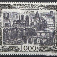 Sellos: FRANCIA, AÉREO 1950 YVERT Nº 29 /**/, VISTAS DE LA CIUDAD DE PARÍS, SIN FIJASELLOS . Lote 179176352