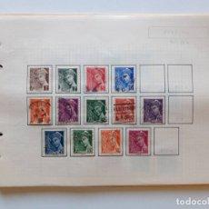 Sellos: FRANCIA 10 PÁGINAS DE ÁLBUM DE SELLOS. Lote 179345311
