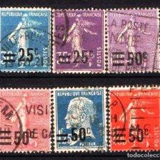 Sellos: GIROEXLIBRIS. FRANCIA.- 1926-27 SELLOS CON SOBRECARGA LOTE DE CONJUNTO SELLOS USADOS. Lote 180275153