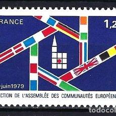 Timbres: 1979 FRANCIA YVERT 2050 PRIMERAS ELECCIONES DIRECTAS A LA ASAMBLEA EUROPEA NUEVO MNH**. Lote 182810483