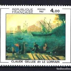 Timbres: 1982 FRANCIA YVERT 2211 ARTE - PINTURA DE CLAUDE GELLÉE NUEVO MNH**. Lote 182811230