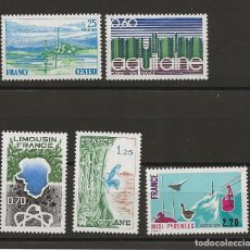 Sellos: R18/ FRANCIA 1976, Y&T 1863/66, 1865A, MNH**, REGIONS TAILLE DOUCE.... Lote 182998367