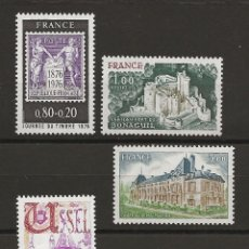 Sellos: R18/ FRANCIA 1976, Y&T 1870/73, MNH ** JOURNEE DU TIMBRE. Lote 183003785