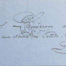 Sellos: FRANCIA. SOBRE YV 59. 1873. 15 CTS CASTAÑO AMARILLO. CORREO INTERIOR DE PARIS. MATASELLO ESTRELLA D. Lote 183123586
