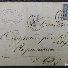 Sellos: CARTA DE FRANCIA CON SELLO DE 15 CTMS. AÑO 1883. Lote 183208172