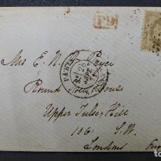 Sellos: CARTA DE PARIS FRANCIA A LONDRES REINO UNIDO CON SELLO DE 30 CTMS. AÑO 1871. Lote 183208493