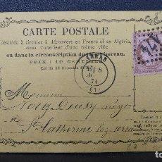 Sellos: ENTERO POSTAL DE FRANCIA CON SELLO DE 10 CTMS. AÑO 1874. Lote 183208906