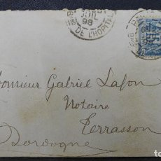 Sellos: CARTA DE FRANCIA CON SELLO DE 15 CTMS. AÑO 1898. Lote 183399067