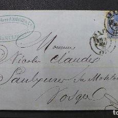 Sellos: CARTA DE FRANCIA CON SELLO DE 25 CTMS. AÑO 1877. Lote 183399432