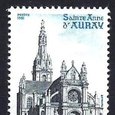 Sellos: 1981 FRANCIA YVERT 2134 IGLESIA DE SANTA ANA - AURAY - NUEVO MNH**. Lote 183507220
