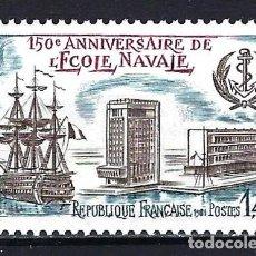 Sellos: 1981 FRANCIA YVERT 2170 150 ANIVERSARIO DE LA ESCUELA NAVAL - NUEVO MNH** . Lote 183507288