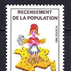 Sellos: 1982 FRANCIA YVERT 2202 CENSO DE POBLACIÓN - NUEVO MNH** . Lote 183507668