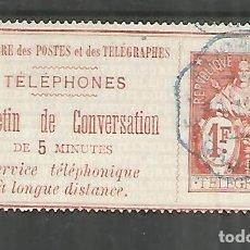 Sellos: FRANCIA SELLOS PARA TELEFONOS TELEPHONE STAMP . Lote 183591031