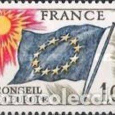 Sellos: FRANCIA - SERVICIO 49 - AÑO 1976 - CONSEJO DE EUROPA - NUEVOS. Lote 184100250