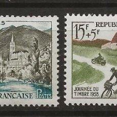 Sellos: R18/ FRANCIA 1958 Y&T 1150/51 MH*. Lote 185705807