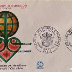 Sellos: SOBRE PRIMER DIA. FRANCIA. 50 ANNIVERSAIRE ACADEMIE DES SCIENCES D'OUTRE MER. PARIS, 1973.. Lote 185738767