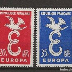 Sellos: R18/ FRANCIA 1958, Y&T 1173/74 MH*. Lote 185750050