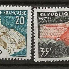 Sellos: R18/ FRANCIA 1958 Y&T 1177/78 MH*. Lote 185750253