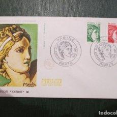 Sellos: SOBRE PRIMER DÍA. PARÍS. 1980. FRANCE. FRANCIA. SABINE. EDITIONS J. F. COURBEVOIE. Lote 186200971