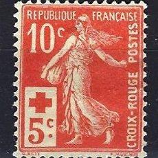 Sellos: 1914 FRANCIA YVERT 147 MICHEL 126 CRUZ ROJA MH* NUEVO CON FIJASELLOS. Lote 186443225