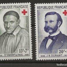 Sellos: R18/ FRANCIA 1958 Y&T 1187/88 MH*. Lote 189181721